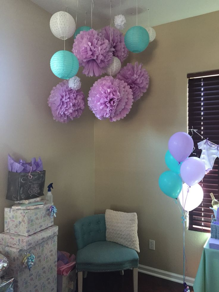 Mint And Lavender Baby Shower Theme