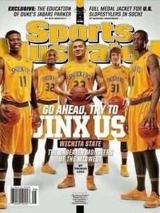 The regional cover of Sports Illustrated featuring the Wichita State Shockers in February, 2014.