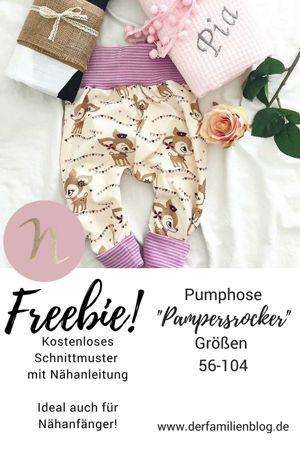 "Freebie ""Pampersrocker"" Kostenlose Schnittmuster Baby Bloomers – DIY Sewing Manual   – Sew!"
