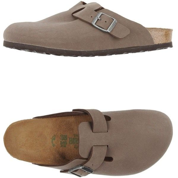 Birkenstock Slippers (16.300 HUF) ❤ liked on Polyvore featuring shoes, slippers and cocoa