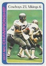 1978 NFC CHAMPION DALLAS COWBOYS   1978 Topps NFC Championship Game -Roger Staubach