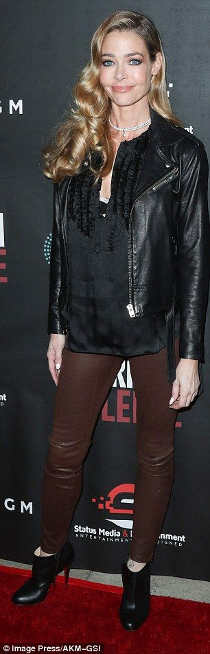 Denise Richards attends LA premiere of American Violence  | Daily Mail Online