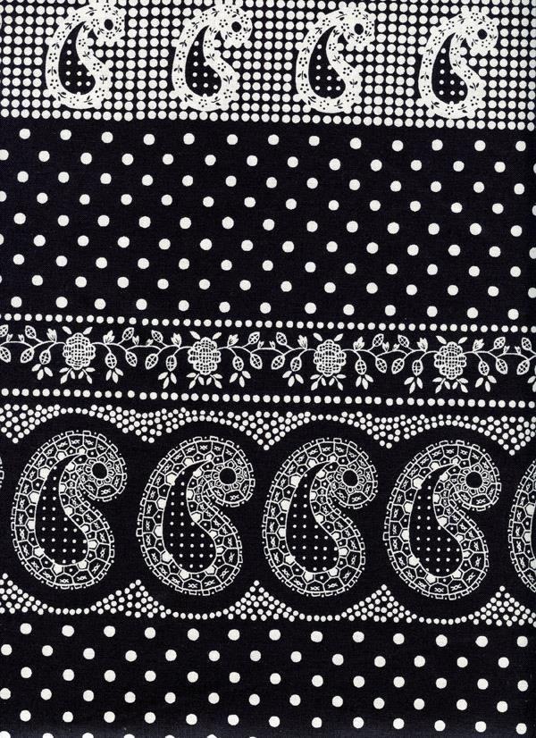 Durango Bandana Paisley Polka Dots Black Quilt Sew Fabric ALEXANDER HENRY #AlexanderHenry