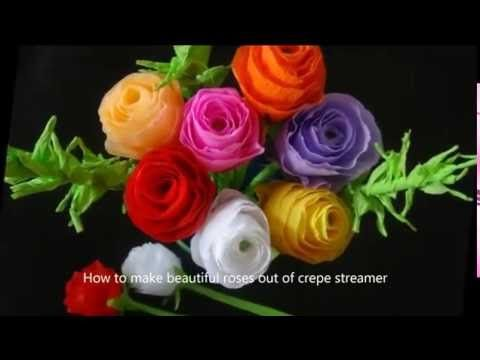 55 best creative art works images on pinterest easy origami flower how to make paper flowers youtube mightylinksfo Choice Image