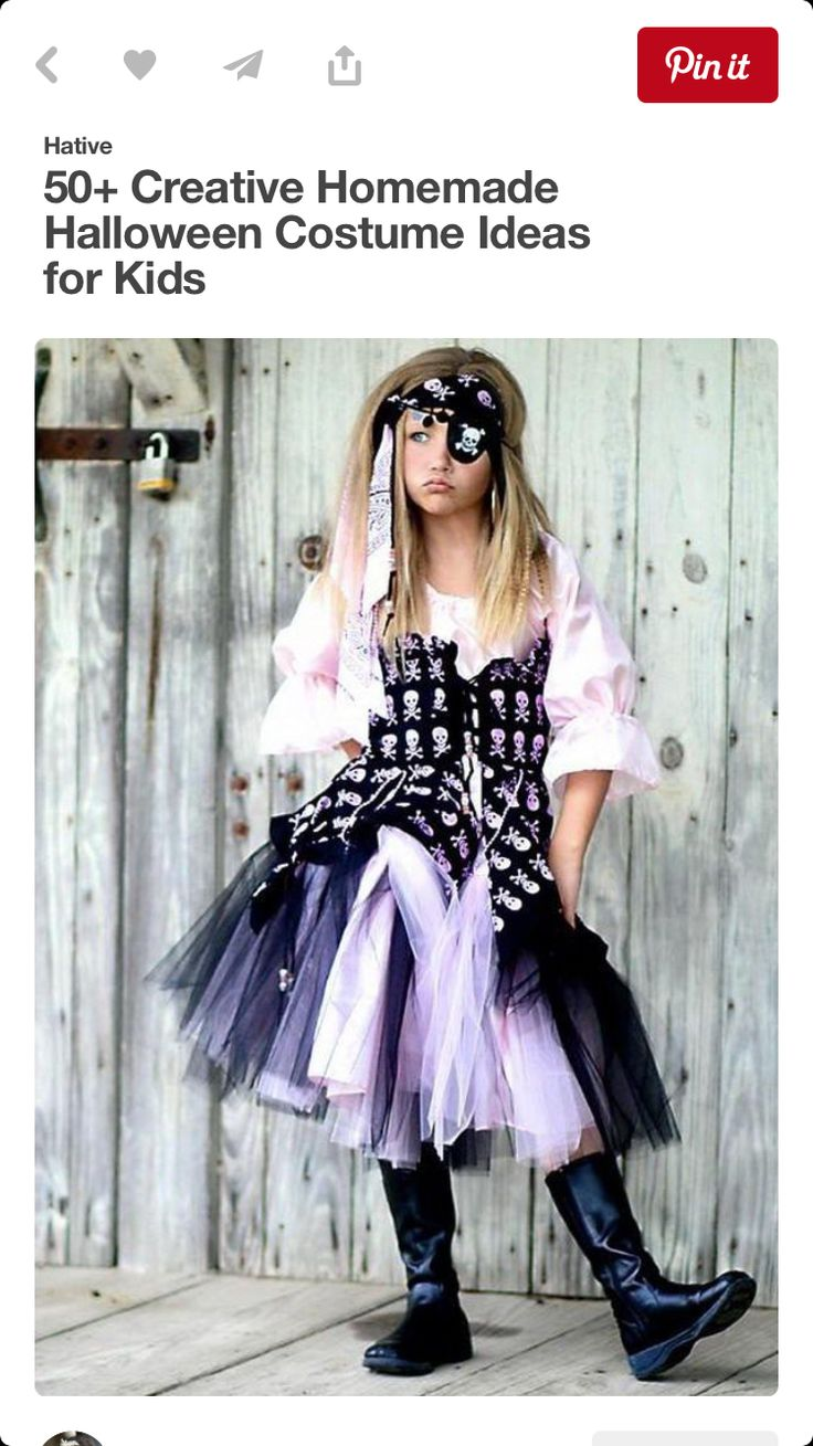 32 best adult pirate costume ideas images on pinterest adult pirate girl costume creative homemade halloween costume ideas for kids solutioingenieria Gallery