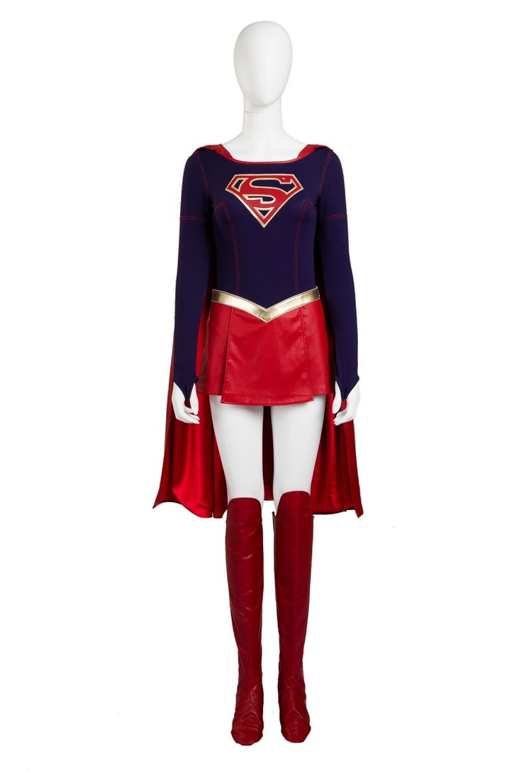 2016 NEW ARRIVAL Supergirl Cosplay Costume Supergirl Costume girl's cos outfit Halloween chrismas party clothing set for women #Affiliate