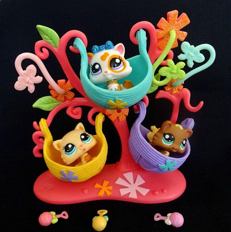 Littlest Pet Shop 2326 2327 2328 Kitten Cat Baby Petriplets LPS Toy HASBRO Set