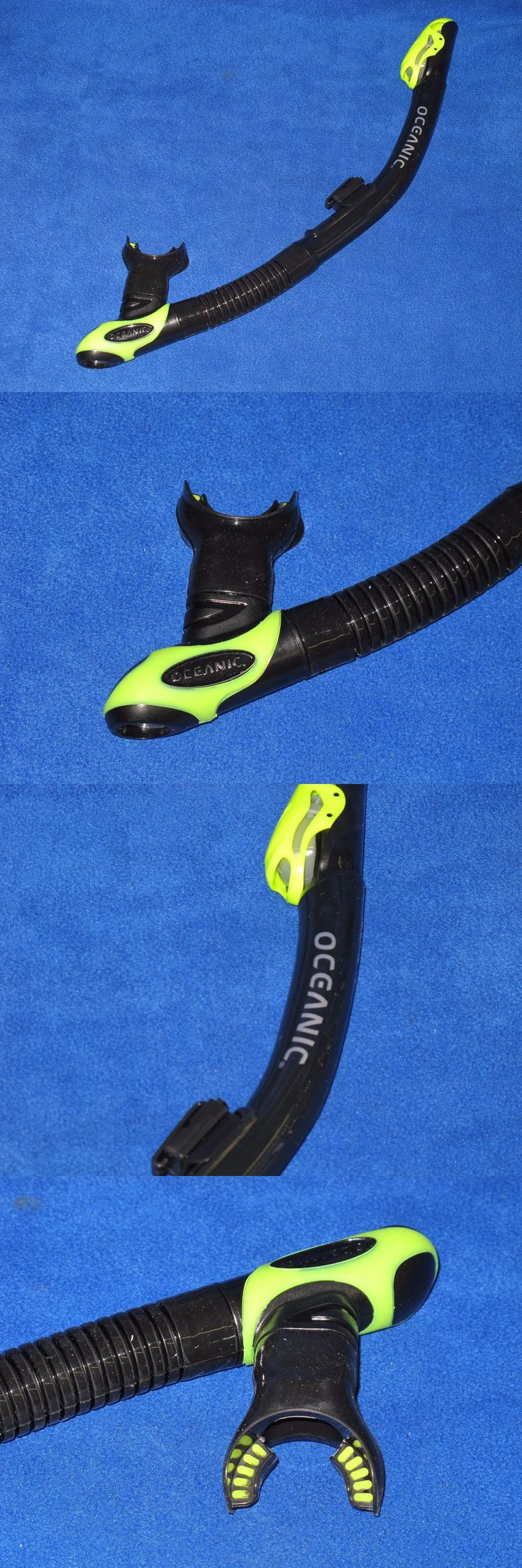 Snorkels and Sets 71162: Oceanic Ultra Dry Snorkel Scuba Diving Dry Top Flex Tube Snorkel Black Yellow -> BUY IT NOW ONLY: $44.95 on eBay!