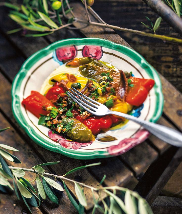 Grilled peppers with anchovy sauce – Pepperone arrostito con salsa di acciughe