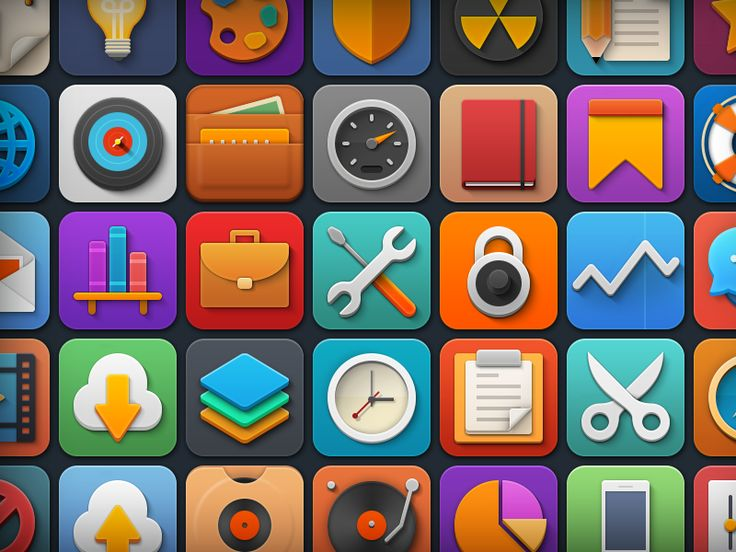 "Free Icon Set ""Softies"" by Kenny Sing"