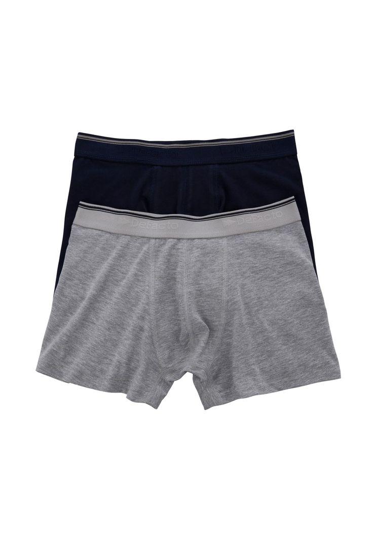 DeFacto Marka 2'li Boxer iç Çamaşırı    Geniş kalıbı ile gün boyunca rahat hareket edebileceğiniz DeFacto erkek boxer                        http://www.1001stil.com/urun/3405264/2li-boxer-ic-camasiri.html?utm_campaign=DeFacto&utm_source=pinterest