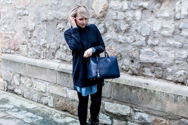 Die wunderhübsche Franziska von Zukkermaedchen.de kombiniert die blaue GRACE mit Chanel! Slow Fashion in ihrer elegantesten Form!