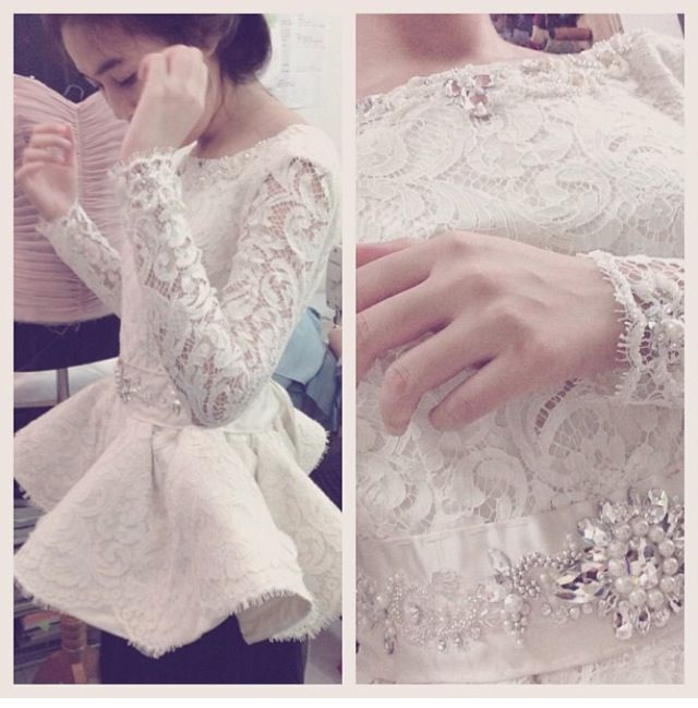 Plum white #detail #kebaya #pretty