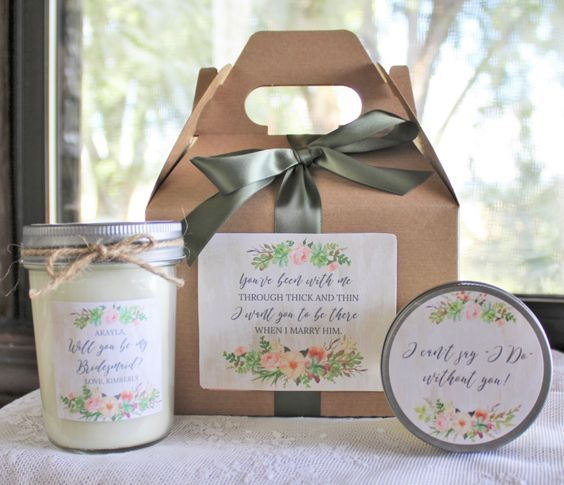 Featured Bridesmaid Gift: TheDancingWick; Bridesmaid gift idea.