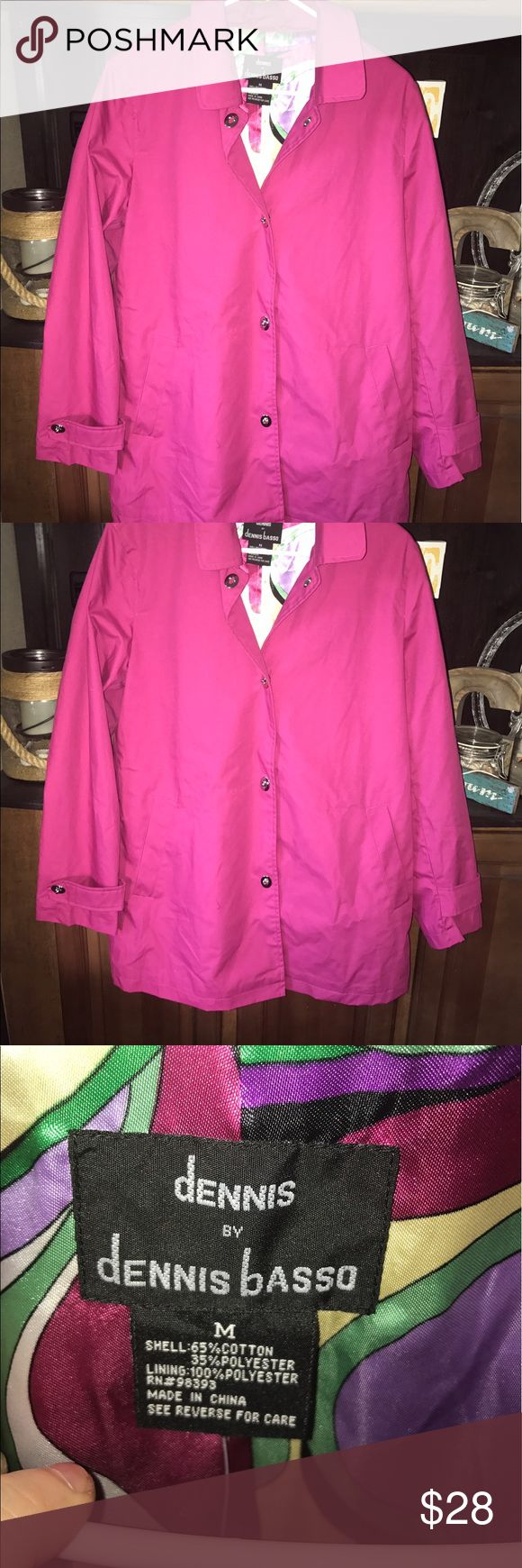 BNWT pink jacket Medium, from QVC dennis by dennis basso Jackets & Coats Trench Coats