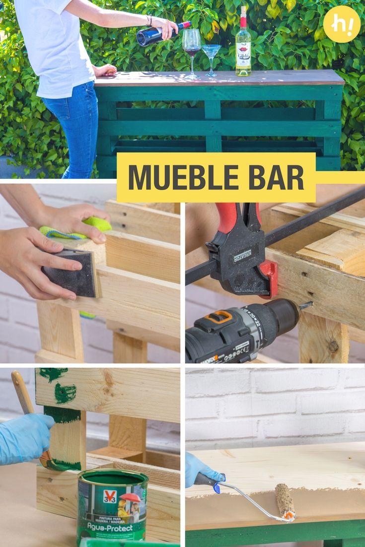 M s de 25 ideas incre bles sobre barra de pal s en for Mueble bar exterior