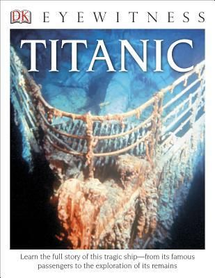 Titanic by Simon Adams 910.4 ADA Offers detailed descriptions of the Titanic, including its accommodations, and a retelling of its sinking in the North Atlantic in April, 1912.