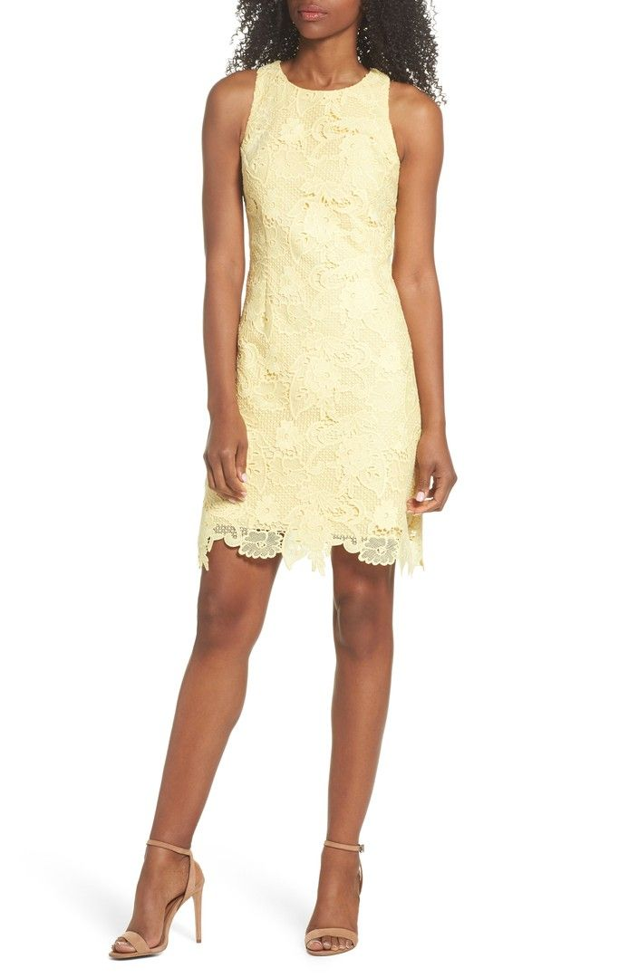 Easter? Main Image - Eliza J Lace Sheath Dress