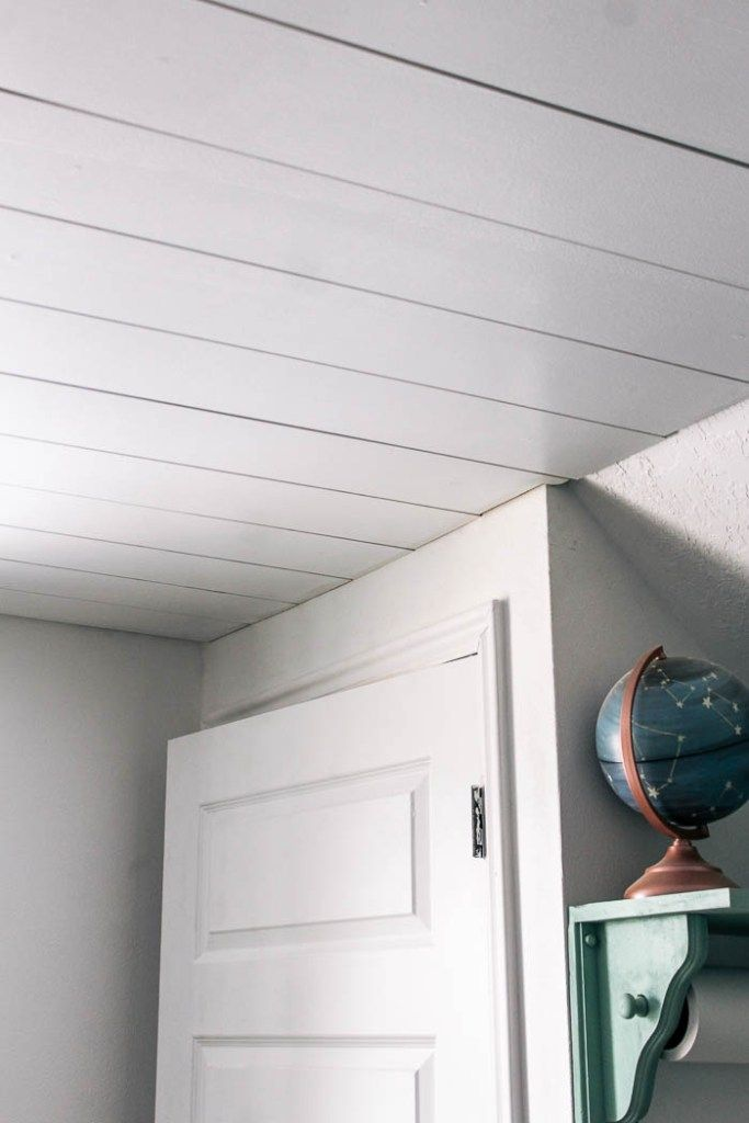 How To Install A Shiplap Ceiling Shiplap Ceiling Ceiling Decor