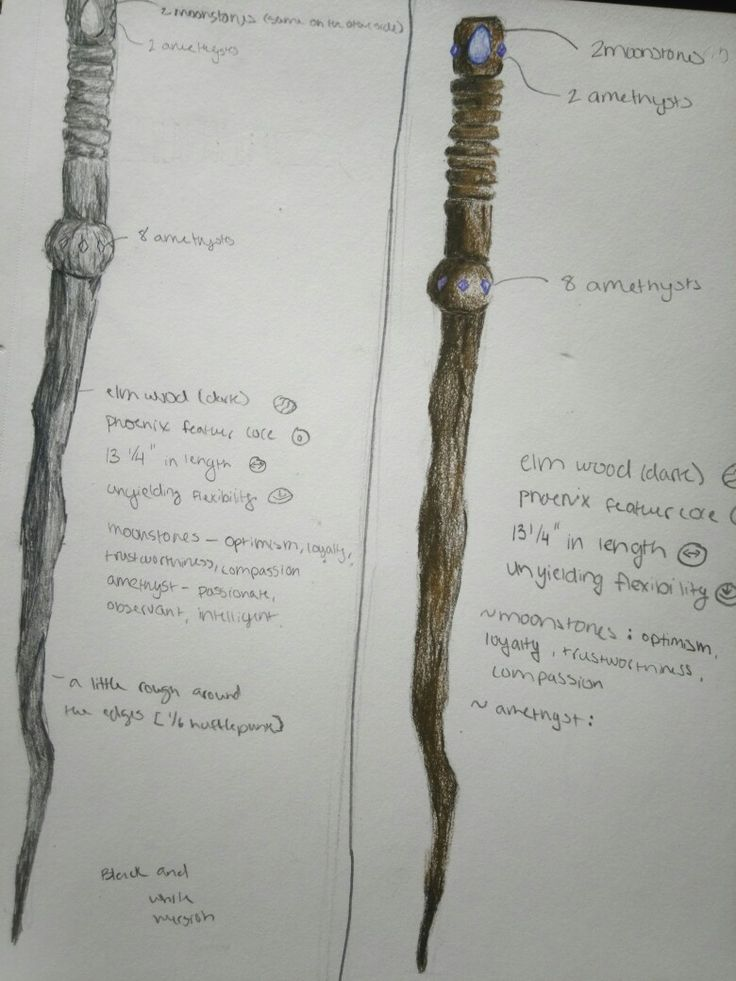 My wand based off of my Pottermore wand  By @BriannaLe