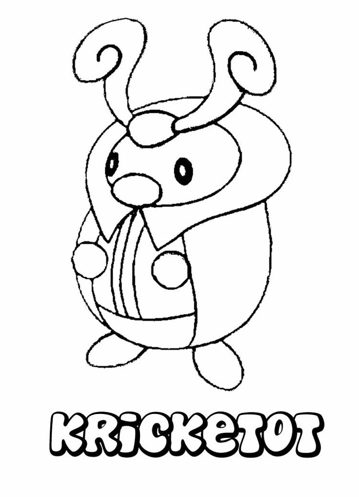 Pokemon Kricketot Coloring Page