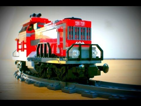 ▶ Lego Red Cargo Train 3677 7937 7938 7937 7895 7499 Lego City Trains Limited review - YouTube