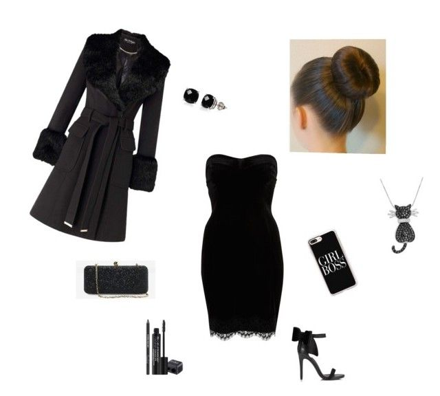 """""""Little black dress"""" by csgatocutie ❤ liked on Polyvore featuring River Island, Casetify, Miss Selfridge, Rodial, White House Black Market, Amanda Rose Collection and Belk & Co."""