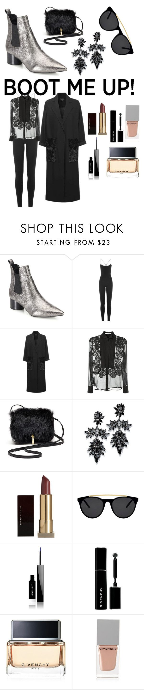 """Chelsea Boots- Baldwin"" by rbcashyu ❤ liked on Polyvore featuring Kendall + Kylie, Valentino, Topshop, Givenchy, Elizabeth and James, Fallon, Kevyn Aucoin and Smoke x Mirrors"