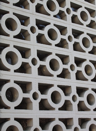 Decorative Concrete Blocks As A Dividing Wall It Has