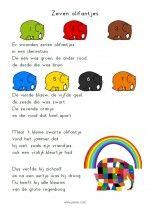 Versje Elmer - Zeven olifantjes