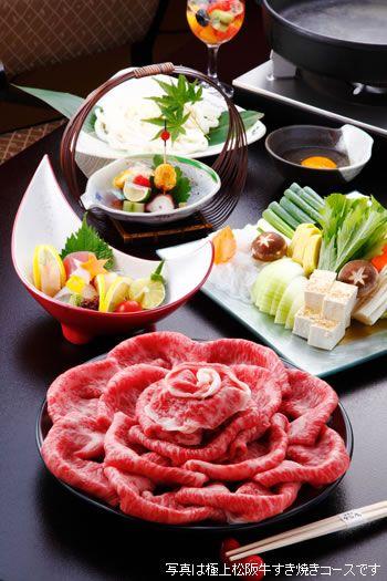 極上松阪牛すき焼きコース写真