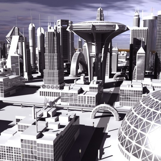 Extremely detailed lowpolygon 3d model of a futuristic cityscape!   Mental ray light setup in MAX version only.  Please check out the website if you  are interested to buy this cool model.