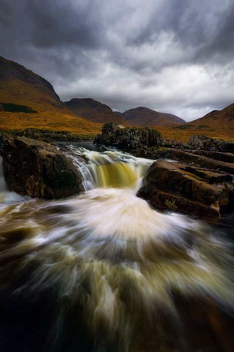 Glen Etive river, Glencoe, Highlands, Scotland