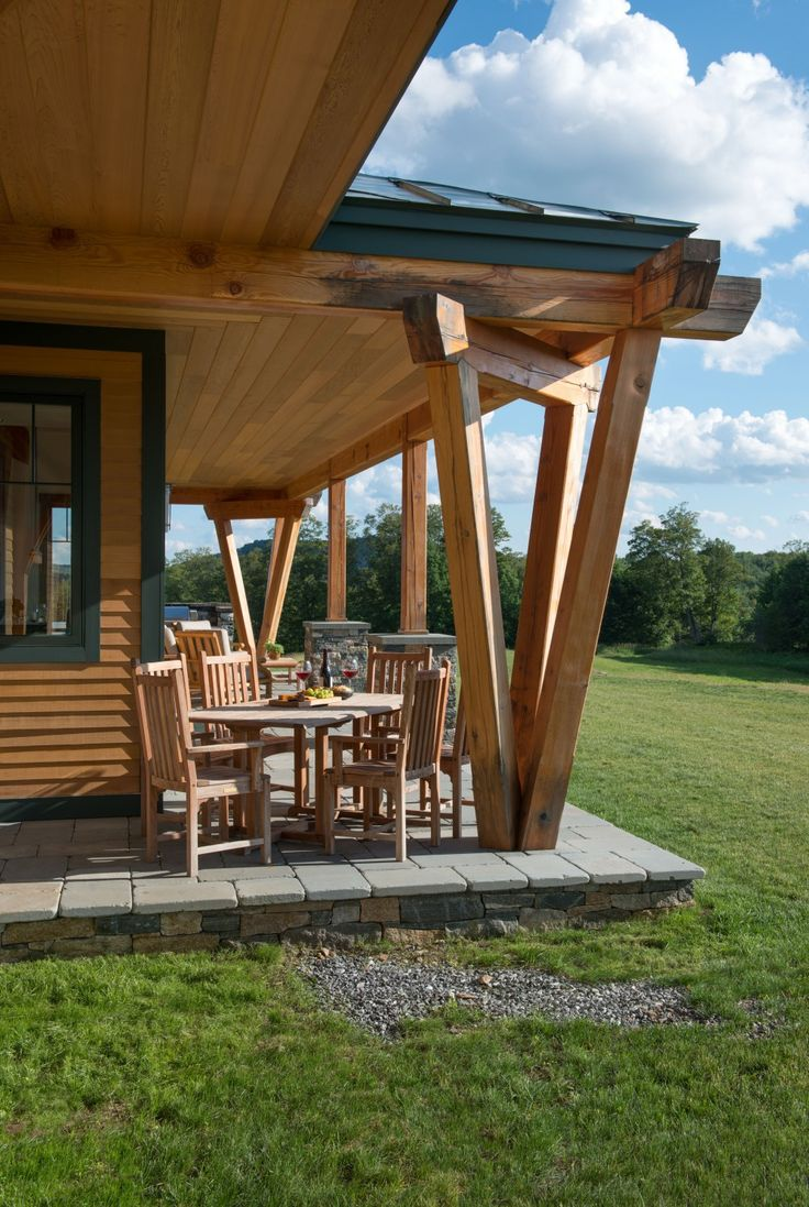 beautiful v shaped timber column outdoor spaces pinterest