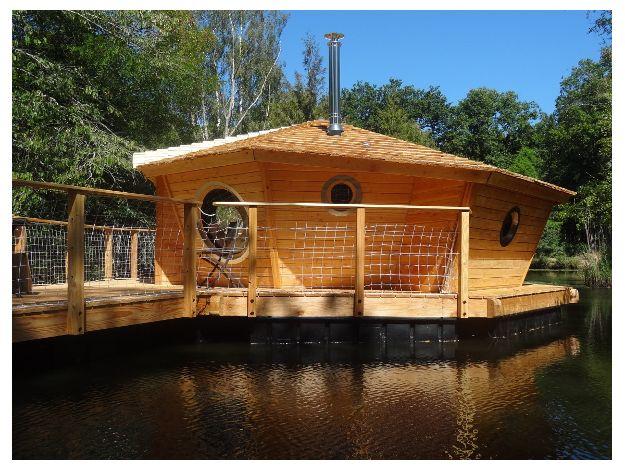 Le Clos de la Loutre - Cabanes flottantes Tarka et Mijbil - Vous recherchez un hébergement - Dormir et réserver - Berry Province
