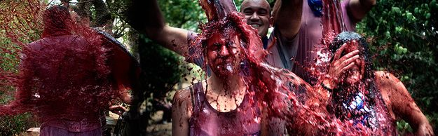 Battle of the Wine. Haro, Spain. | Community Post: 15 Weird Events Where People Throw Things
