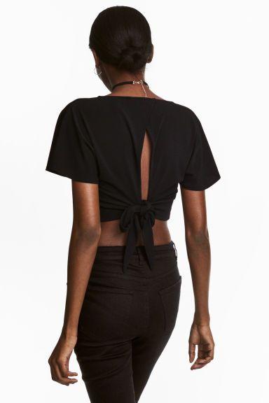 Kısa Üst - Siyah - Ladies | H&M TR