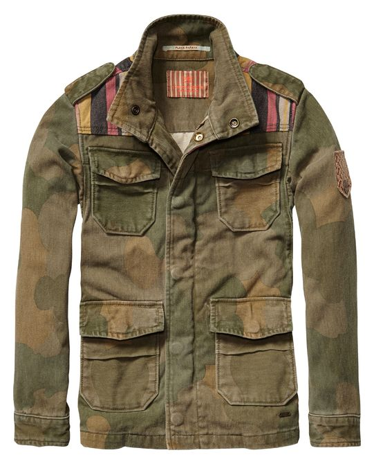Militaire camouflagejas - Scotch & Soda