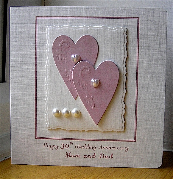 Pink Hearts by: Chrissys4cards