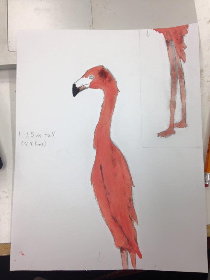 Concept drawing: Flamingo croquet set