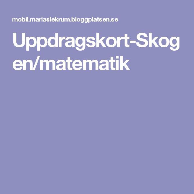 Uppdragskort-Skogen/matematik