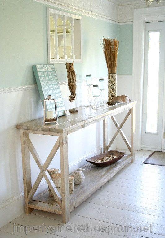 """Белый стол консоль """"Виктория"""".Оригинальная деревянная мебель для дома от интернет магазина мебели """"Империя мебели"""" Киев."""