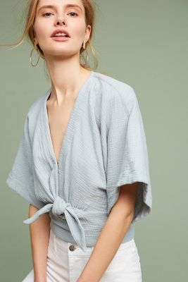 Fresh for spring, cropped kimono, cinched with a knot it just the right place to accentuate your waist!