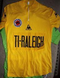 Tour de France Maillot Jaune with Ti-Raleigh Team logo