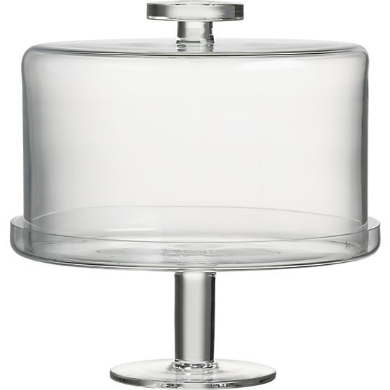 Footed Cake Platter with Dome in Specialty Serveware   Crate and Barrel
