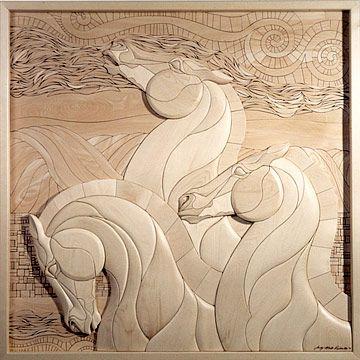 intarsia horses                                                       …