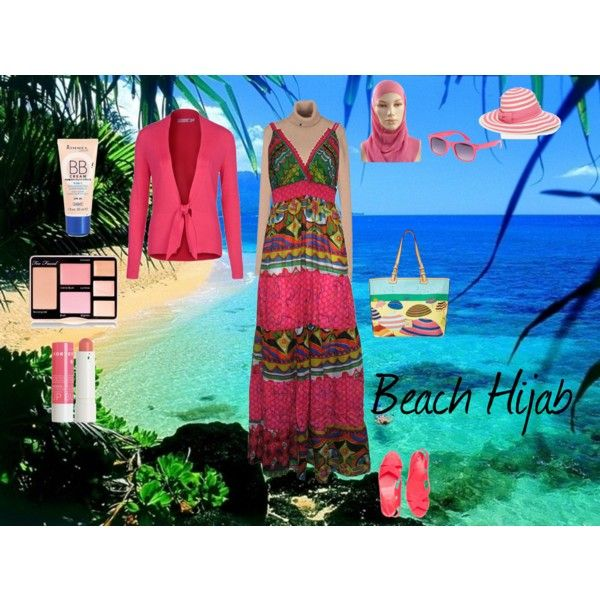 """""""Beach Hijab"""" by fabsmusician on Polyvore"""