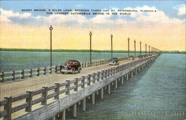 23 best images about vintage st pete clearwater on for Gandy bridge fishing