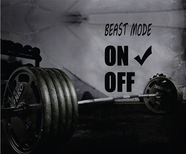 Fitness Motivation Home Gym Wall Decal - Beast Mode On Wall Decal