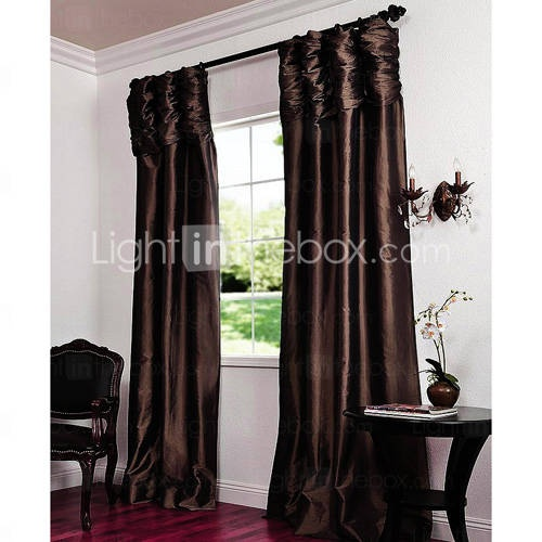 double pleated modern window curtains pair home is where the. Black Bedroom Furniture Sets. Home Design Ideas